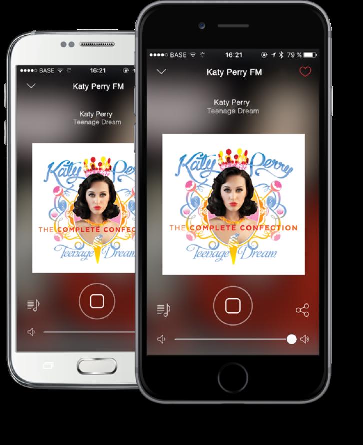 App Radionomy on Smartphones